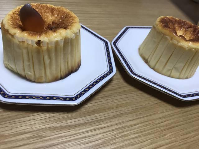 バスクチーズケーキ、メープルシロップ付き
