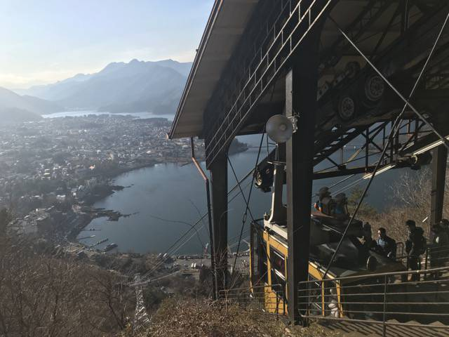カチカチ山のロープウェイ