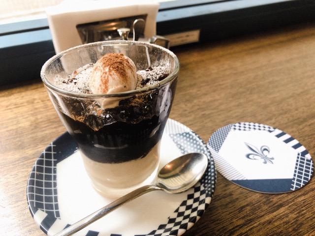 コーヒーハウスニシヤの期間限定のコーヒーゼリー