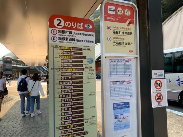 箱根湯本バス停