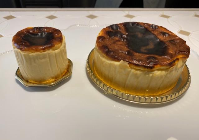 2種類のバスクチーズケーキ